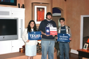 Obama Campaigners in Texas Primary-2008